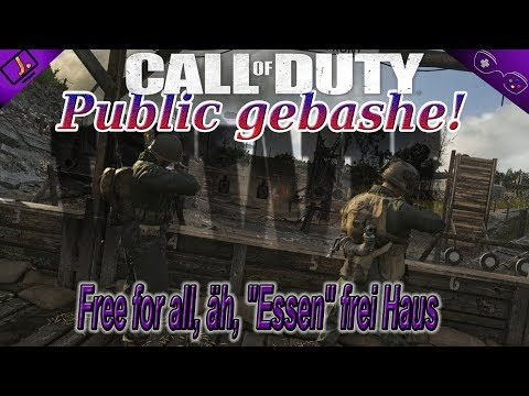 """Free for all, äh, """"Essen"""" frei Haus - Public gebashe! -  💻💻 - Call of Duty WW2"""