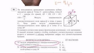 ЕГЭ физика В4.Заряд на кубе. Видео урок