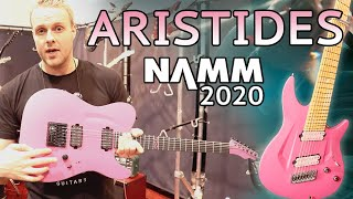 Gambar cover ARISTIDES Guitars T/0 Tele model at NAMM 2020 + Booth Walkthrough