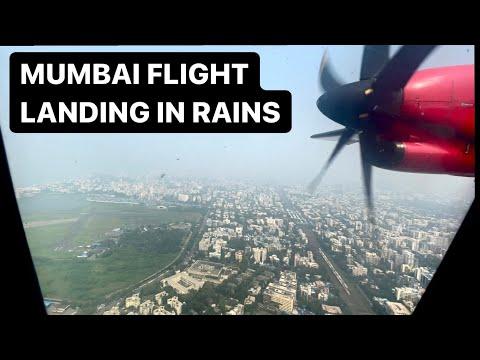 MUMBAI Airport Landing in RAINY SEASON - Badalo Ke Beech Se LANDING