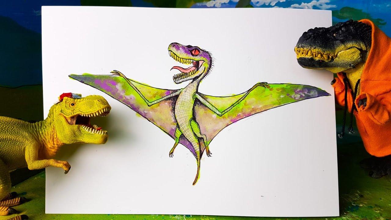 PTEROCIRAPTOR 🦖  Un nuovo dinosauro ibrido! [Tutorial Disegno]