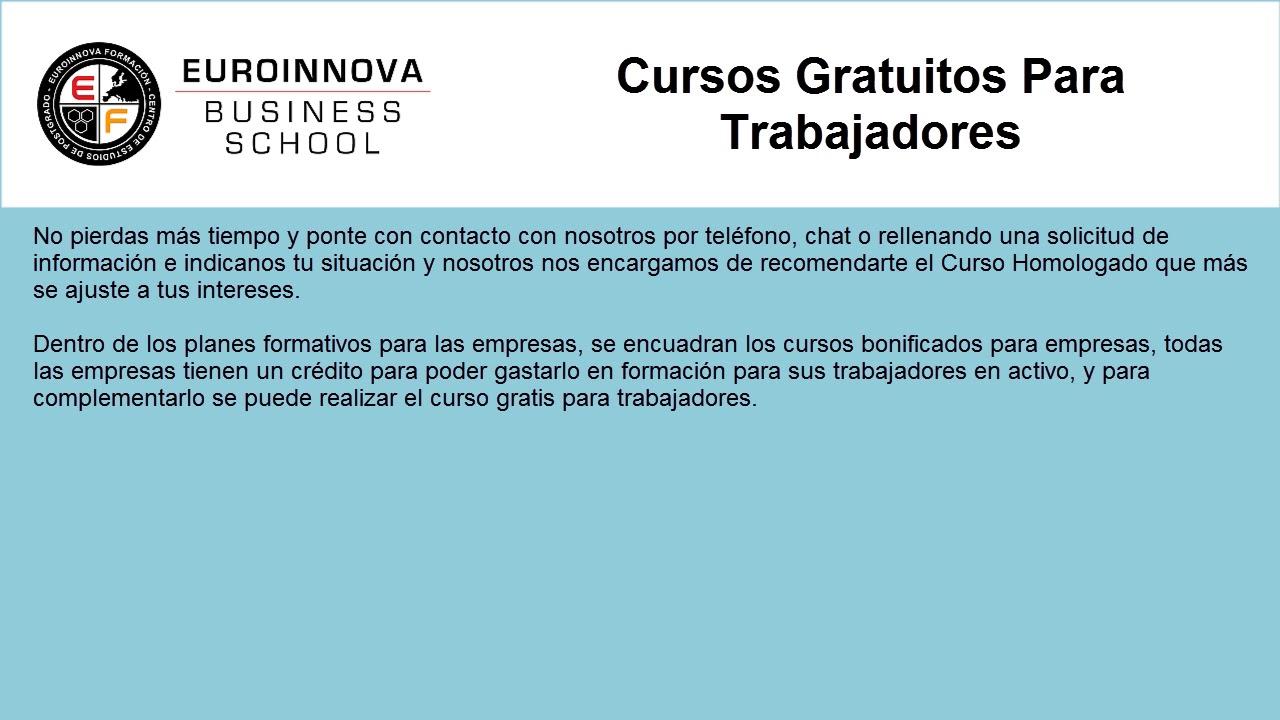 Cursos Para Trabajadores Web Oficial Euroinnova