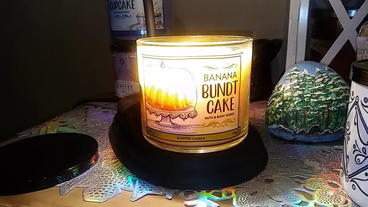 Banana Bundt Cake Bath And Body Works Candle Review Jan