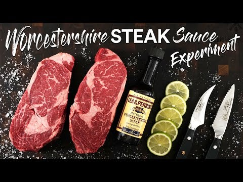 Sous Vide WORCESTERSHIRE SAUCE Steaks Experiment | Sous Vide Everything