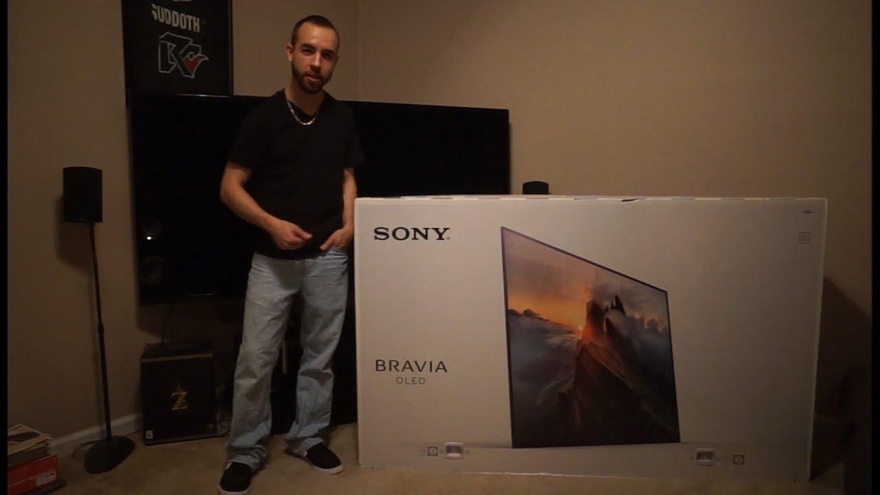 Sony Bravia Oled 4k Uhd Tv Unboxing Amp Setup Xbr65a1e