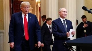 Trump blames Russia probe for bad relations with Putin