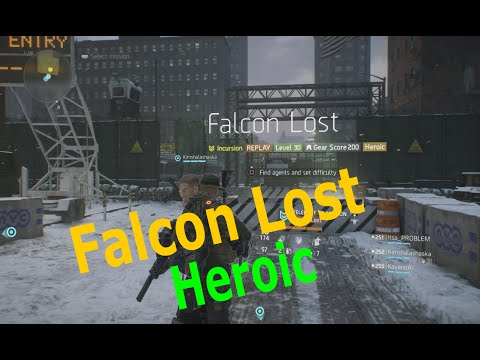 The Division - Falcon Lost Heroic(Ps4, Pc, Xbox) Full Gameplay