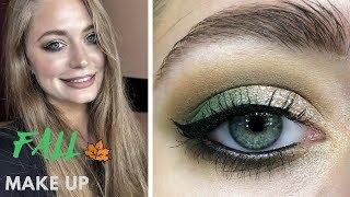 Осенний макияж: стрелки / яркие губы / глиттер: видео-урок