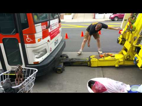 How MTA New York City Transit tows a bus