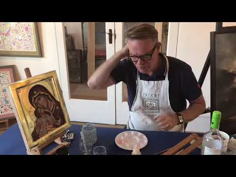 Icon painter Peter Murphy's tutorial on Egg Tempera and Icon Painting, Lovelys Gallery.