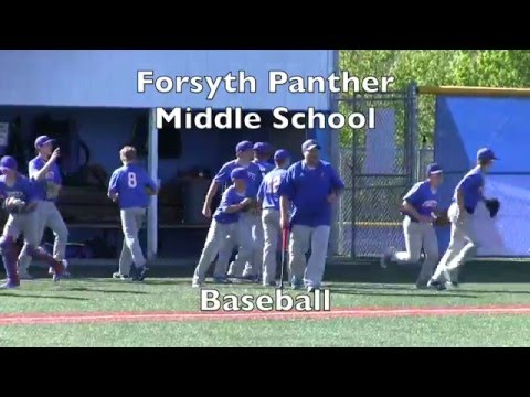 '15 - '16  Forsyth Middle School Baseball vs Clever