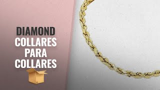 "Productos 2018, Los 10 Mejores Diamond: Yellow Gold Diamond Cut Rope Chain Real Solid 14k 18"" to"