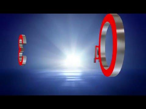 Футаж для видеомонтажа начала фильма с 3D титрами: ПРОИЗВОДСТВО на фоне солнечных лучей