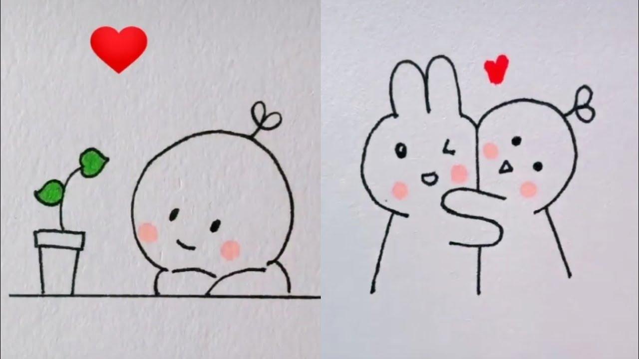TIK TOK👑 học vẽ hình cực cuteee❤ #1