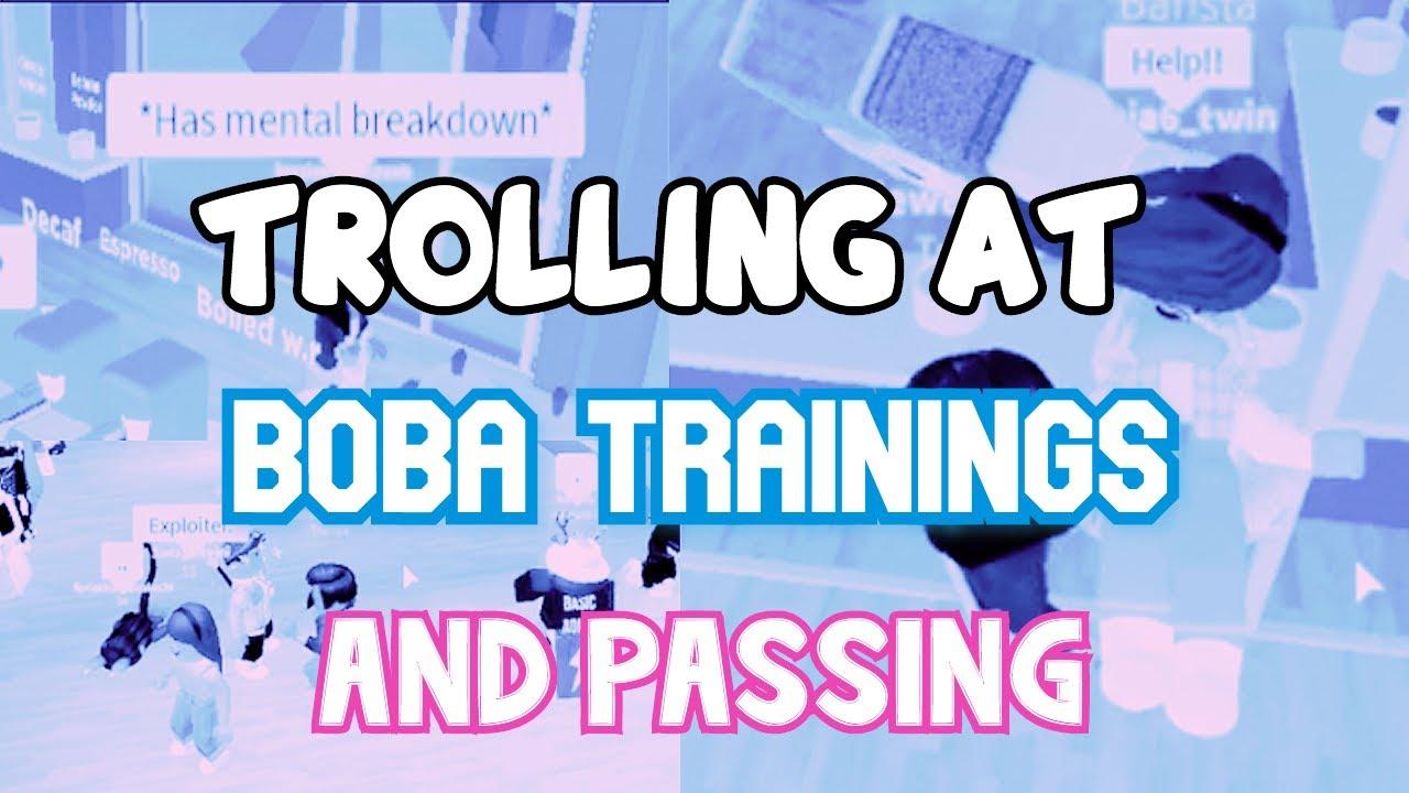 TROLLING & RUINING BOBA TRAININGS-*PASSED!*- ROBLOX TROLLING