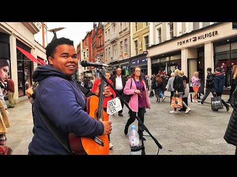 Amazing Busker Performs Invisible Chains In Dublin With Crazy Guitar Solo