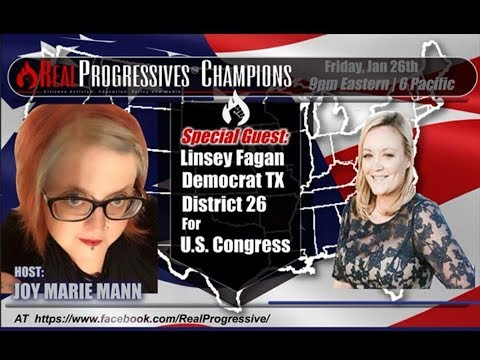 Savage Joy live with US Congressional candiate, Linsey Fagen, for TX District 26