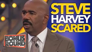 STEVE HARVEY GETS SCARED on Family Feud USA! Bonus Round USA!