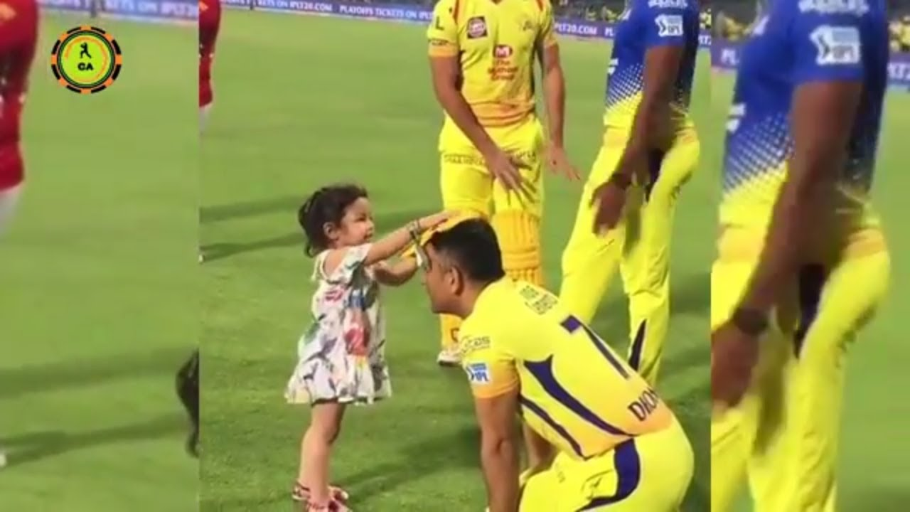 MS Dhoni's daughter Ziva amazing cute moments | CSK |