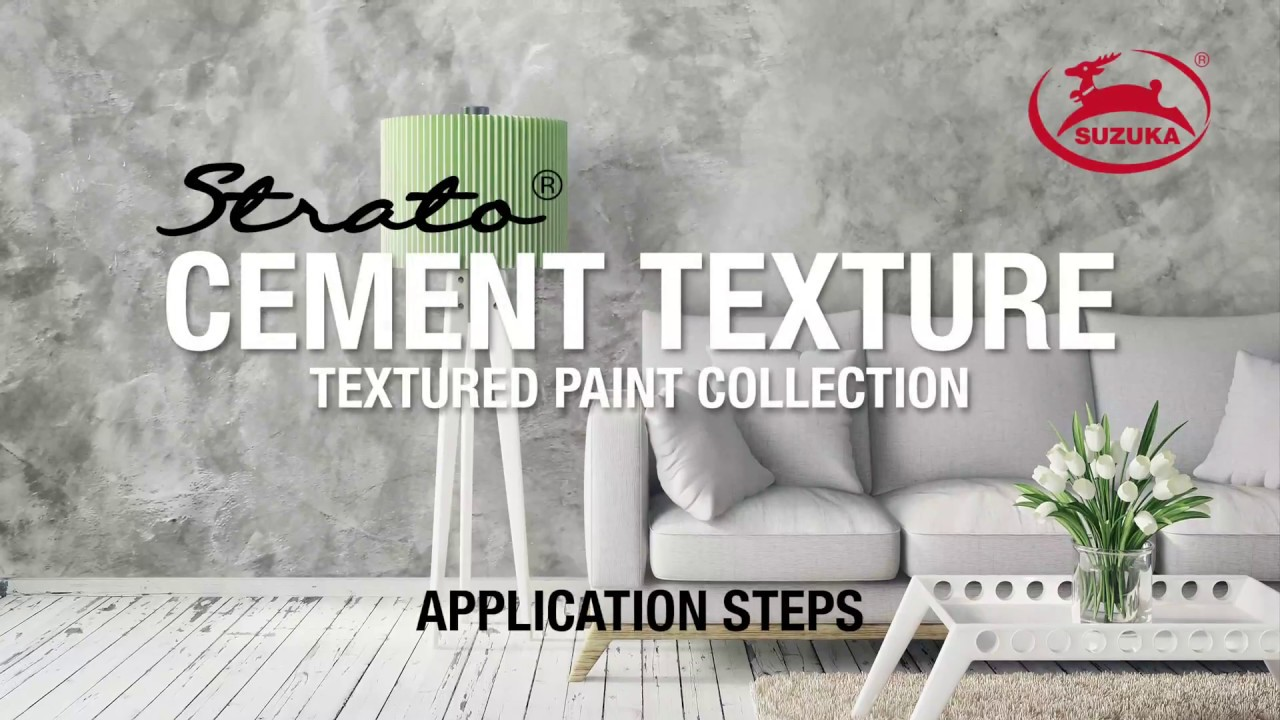 SUZUKAS STRATO Cement Texture Paint Application Steps YouTube