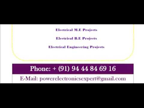 POWER ELECTRONICS PROJECTS IN PERTH