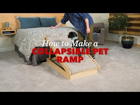 How to Build a Collapsible Pet Ramp