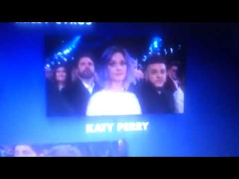 Reaction Katy Perry at Grammy