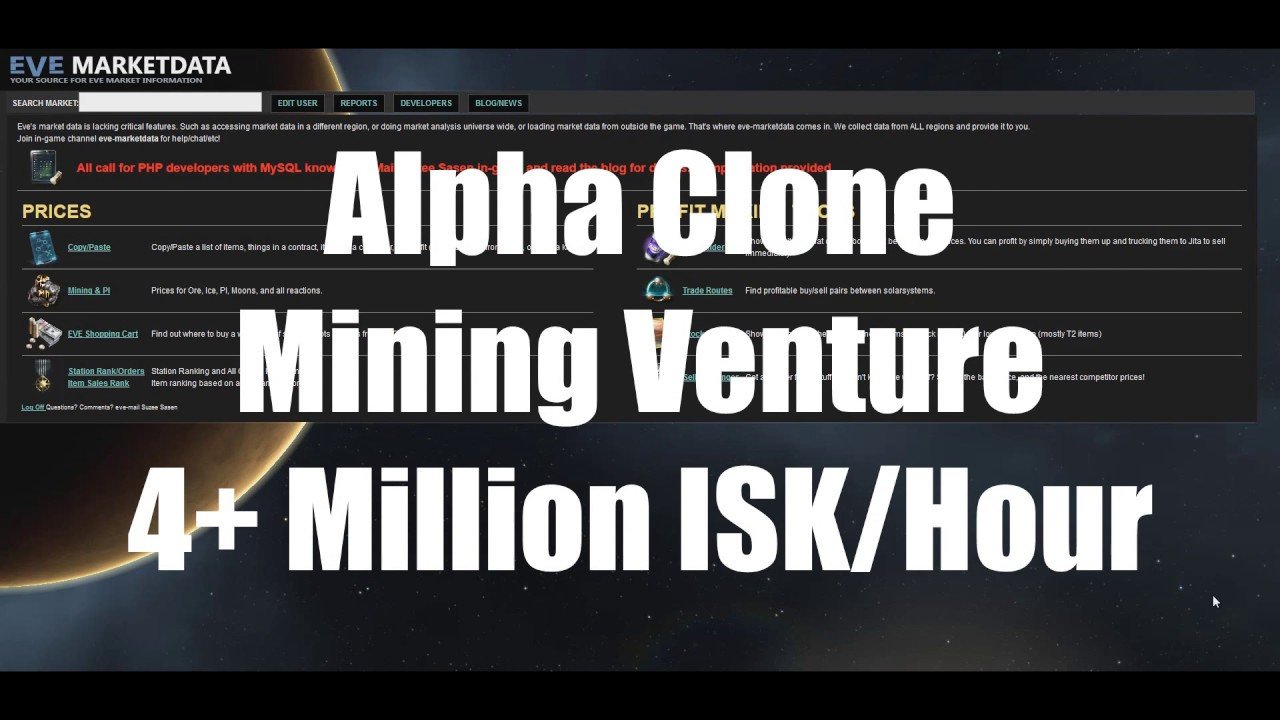 Alpha Clone Mining Venture = 4+ Million ISK per Hour | EVE