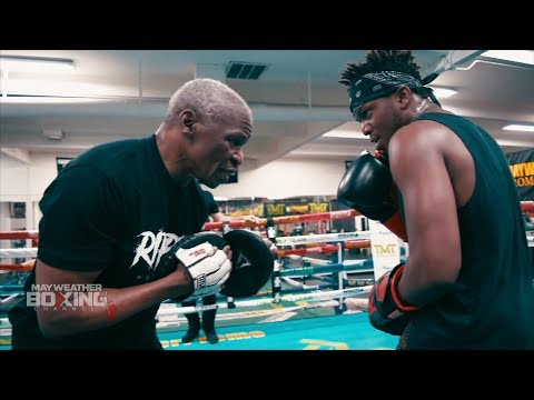 Floyd Mayweather trains KSI to beat down Logan Paul (+ sparring w/ Badou Jack)