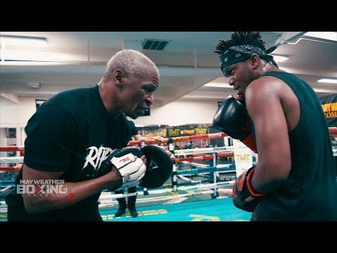 Floyd Mayweather trains KSI to beat down Logan Paul +EXCLUSIVE SPARRING FOOTAGE W/ BADOU JACK