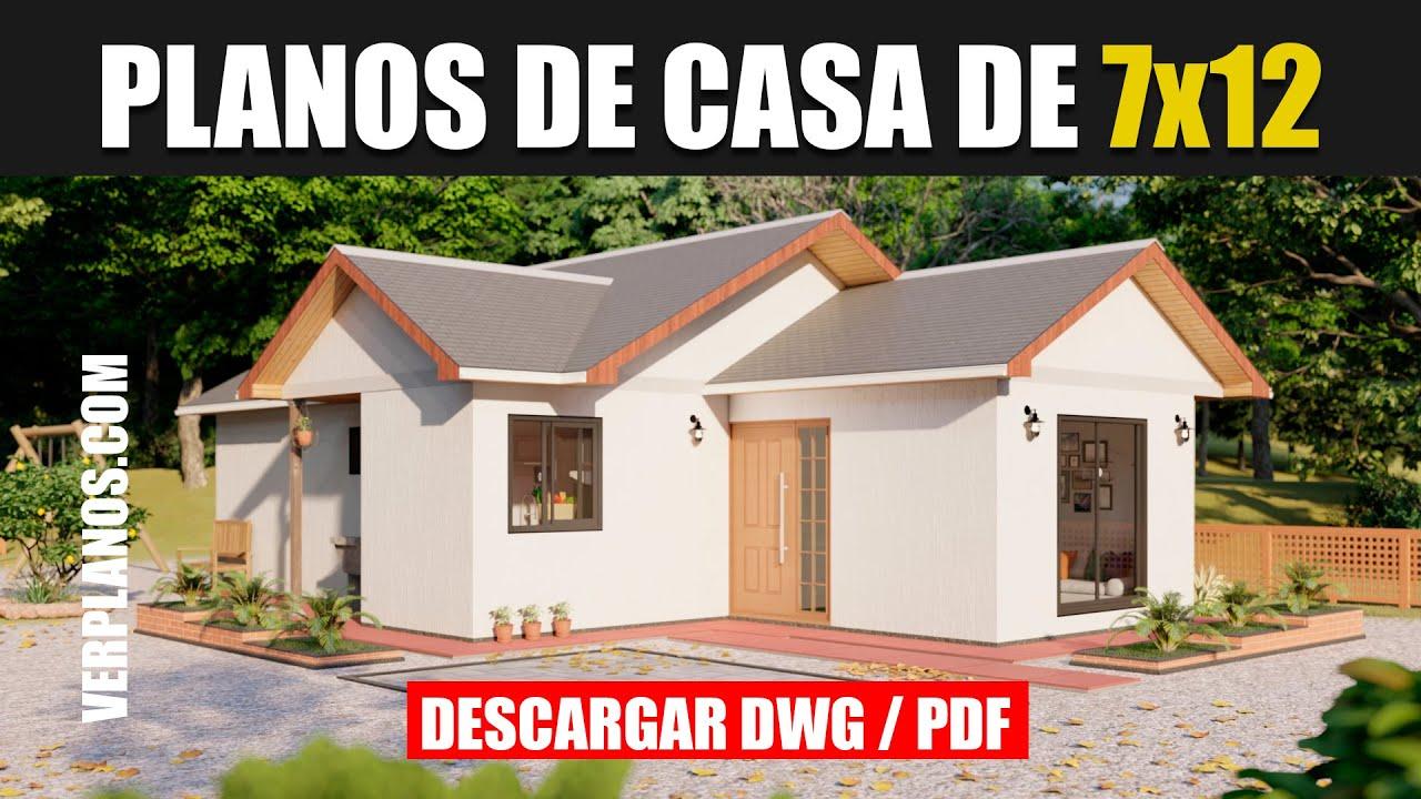 Planos de casa ¡GRATIS! 3 Dormitorios 2 Baños 【 DWG / PDF ...