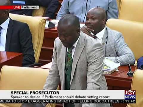 Parliament Debates Martin Amidu's Vetting Report on JoyNews (20-2-18)
