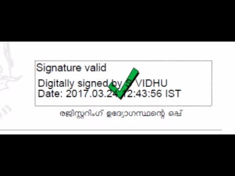 How to validate digital Signature