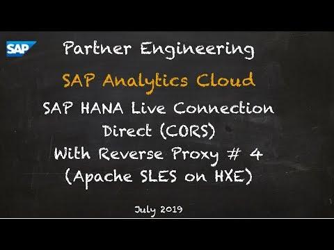 [2019.07] SAP Cloud Analytics Live Connections: Apache Reverse Proxy 4 - SAP Digital Enablement