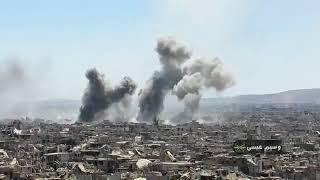 Война в Сирии. Правительственная армия ведет бои в районе Ярмука (2018)