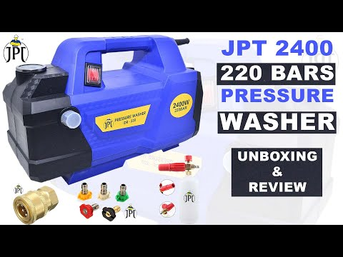 JPT 2400 Watt 220 Bar pressure washer unboxing & review from YouTube · Duration:  9 minutes 30 seconds