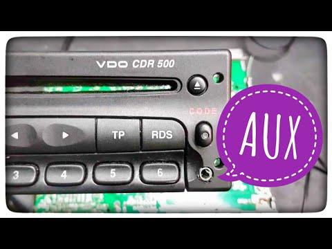 Jak podłączyć AUX w radio VDO CDR500 ? Opel Vauxhall Astra Vectra Zafira Corsa