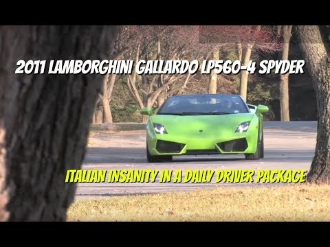 Lamborghini Gallardo LP560-4 Spyder--Video Test Drive with Chris Moran from Chicago Motor Cars