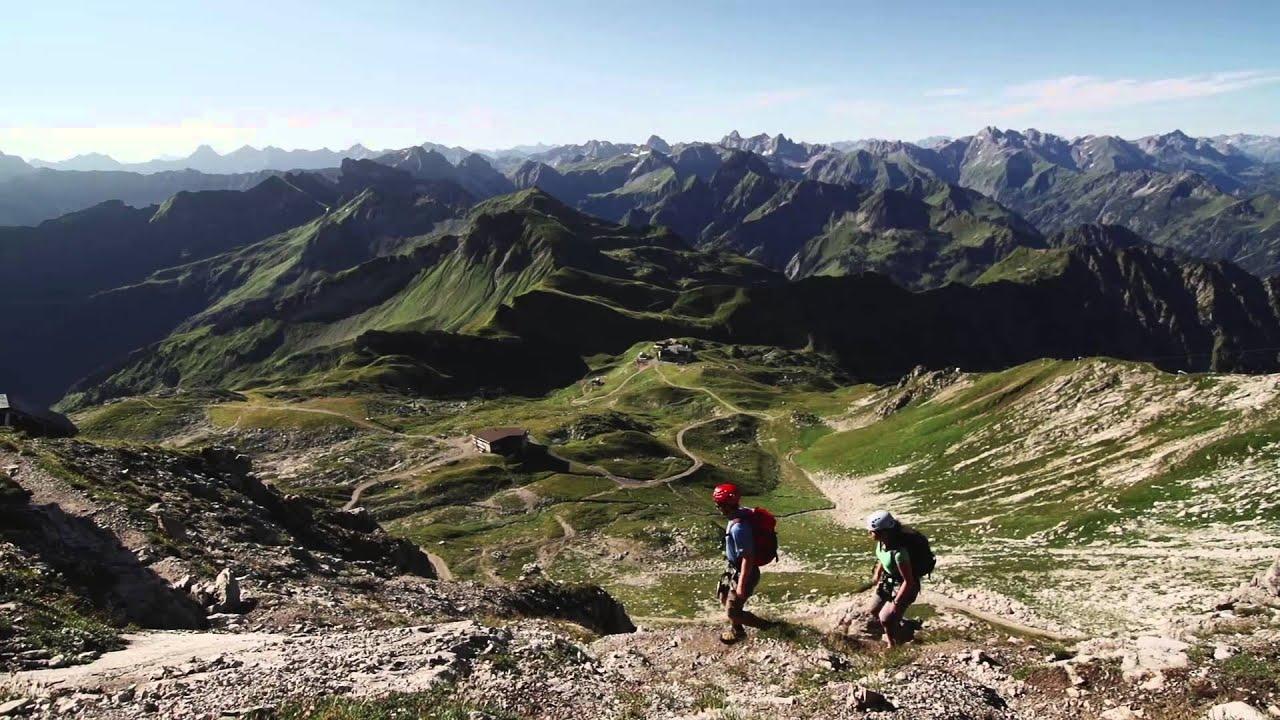 Klettersteig Kleinwalsertal : Klettersteige bei den bergbahnen kleinwalsertal oberstdorf youtube