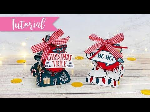 Scatola regalo Albero di Natale - DIY Christmas Tree gift box