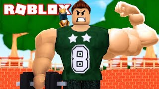 THE MAN WITH THE MOST ROBLOX MUSCLES