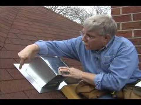 Roof flashing for bathroom fans youtube for Installation of bathroom exhaust fan