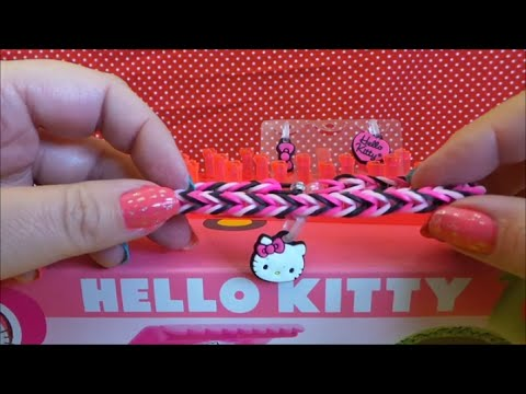 ea6107004 Tutorial on how to make a Fantastic Fishtail Hello Kitty Loom Band Bracelet  with charm