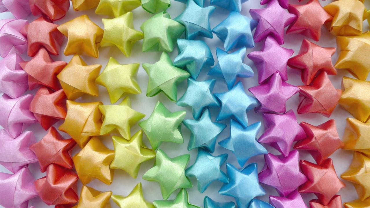Origami star diy paper origami lucky star tutorial youtube for Diy lucky stars