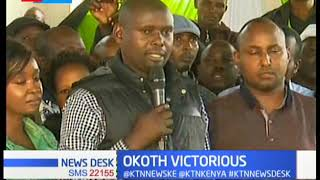 ODM's Imran Okoth triumph in Kibra by - election as Jubilee's Mc Donald Mariga concede def