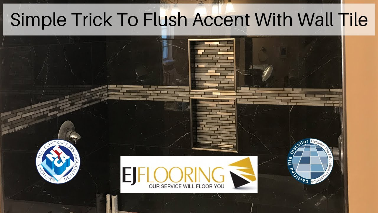 how to install accent tile in shower