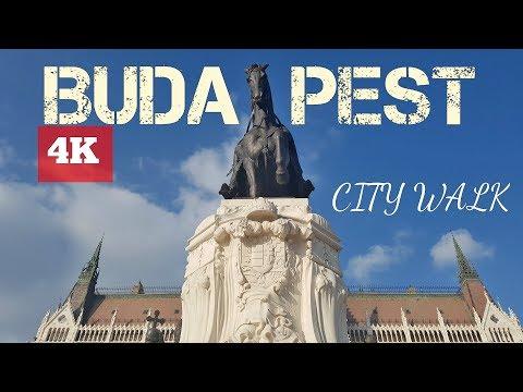 Budapest - Hungary amazing walking city tour 2018 - 4K