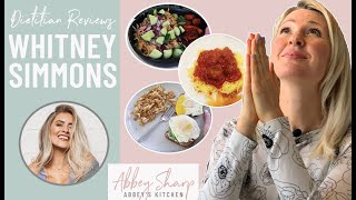 Dietitian Reviews Whitney Simmons What I Eat in A Day