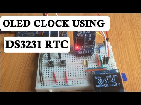 Digital Clock Using SSD1306 OLED And DS3231 RTC With Arduino.