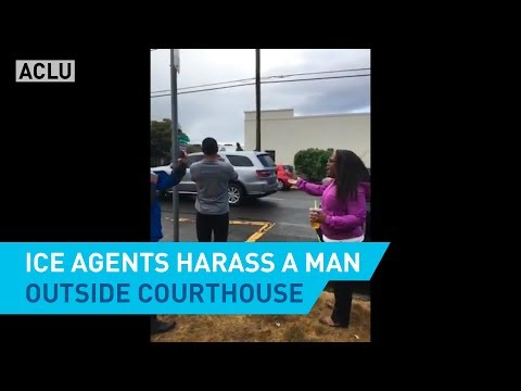 ICE Agents Harass A Man Outside Oregon Courthouse